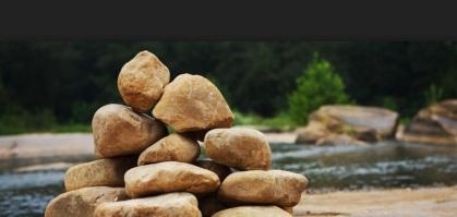 Joshua's memorial stones from the Jordan River