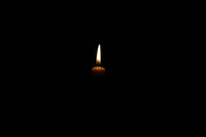 candle light in darkness 3