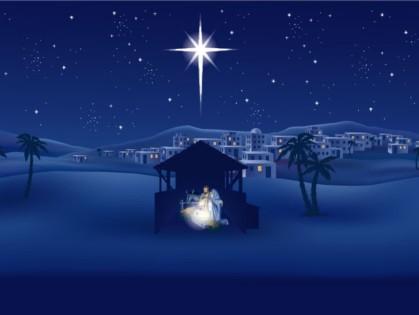 Jesus birth nativity star outside bethlehem stable