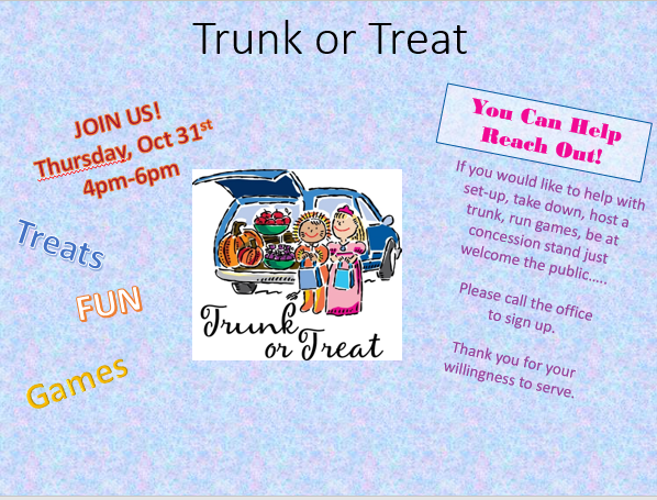 Trunk of treat 2019