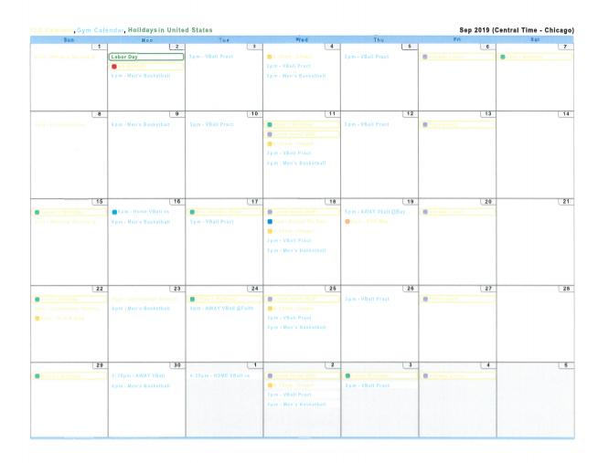 TLS Calendar Sept 2019